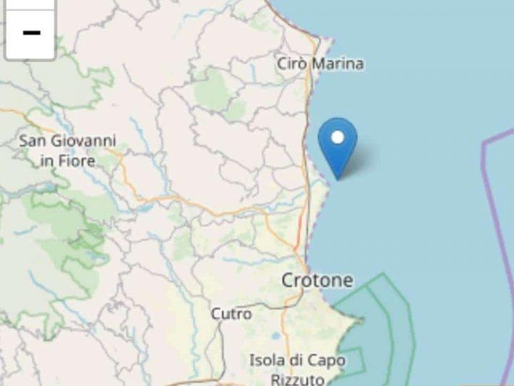 Scosse di terremoto nel crotonese