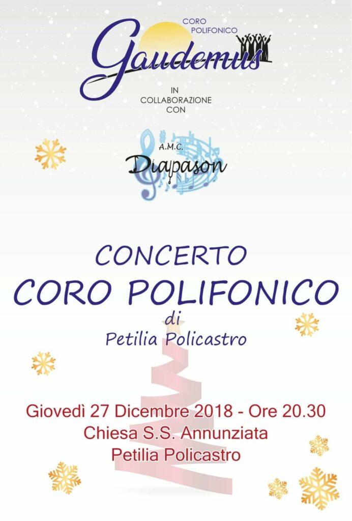 Coro polifonico Gaudemus in concerto a Petilia