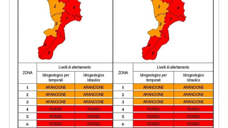 Allerta meteo in Calabria, criticità idrogeologiche