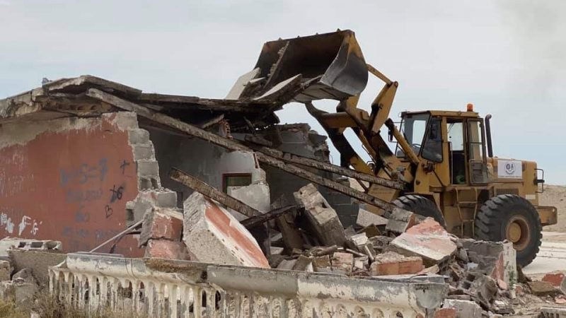 Demolito ecomostro a Schiavonea: Legambiente soddisfatta